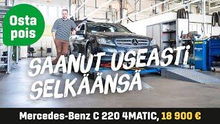 Käytetty: Mercedes-Benz C 220 CDI 4MATIC (18 900€) - Saanut useasti selkäänsä