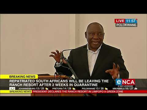 Repatriated students address Ramaphosa