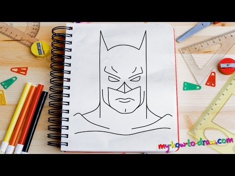 How to draw Batman - Easy step-by-step drawing lessons for kids