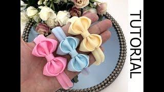 🎀 Laço Docinho - Fita N 5 / DIY Hair Ribbon Bow