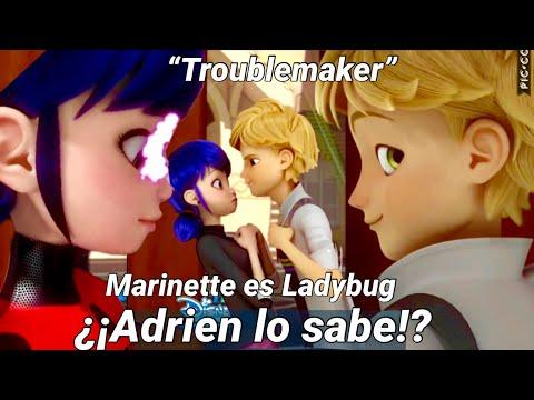 ADRIEN SABE QUE MARINETTE es LADYBUG?!   Capítulo 16: TROUBLEMAKER   Miraculous Ladybug (S2)