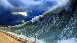 Scenario of a 50 metre Asteroid Impact in the Atlantic Ocean in HD