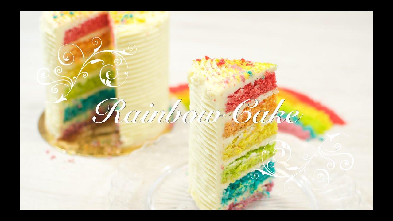 Tarta Arcoiris o Rainbow Cake | Tarta Acoiris paso a paso | Recetas de postres por chefdemicasa