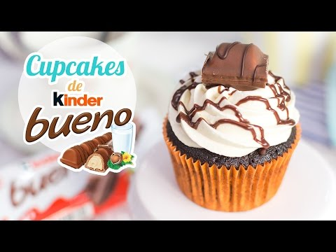Espectaculares Cupcakes Con Sabor a Kinder Bueno