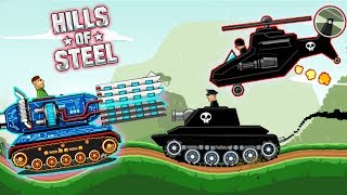 HILLS of STEEL - The MAMMOTH tank against CRAZY BOSSES / new passing game Funny videos for kids play