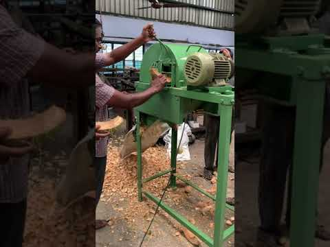 Coconut Husk Chips Cutting Machine ( Double Side Feeding- With Motor)