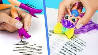Sınıfa Gizlice Barbie Bebek Sokmanın 9 Tuhaf Yolu / Zekice Barbie ve LOL Sürpriz Bebek Hileleri