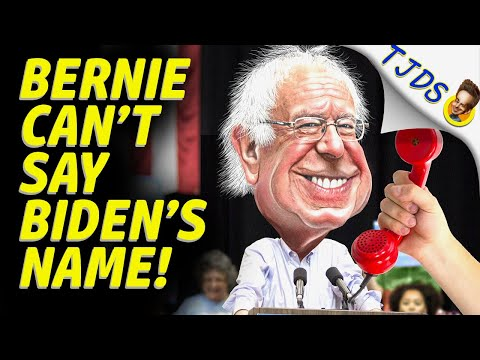 Bernie Sanders Can't Say Biden's Name!