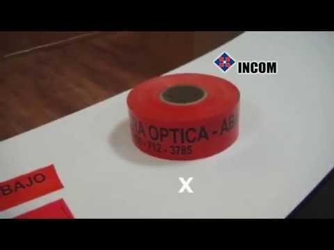 Prueba de elongación cinta de advertencia ICOPTIKS