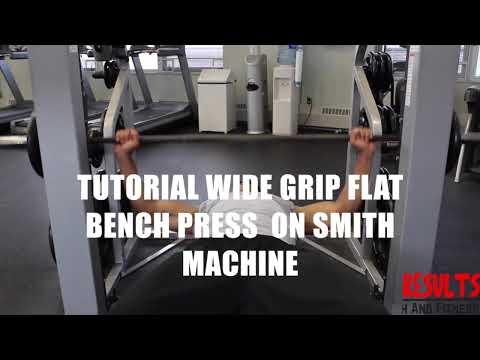 Tutorial Wide Grip Flat Bench Press on Smith Machine