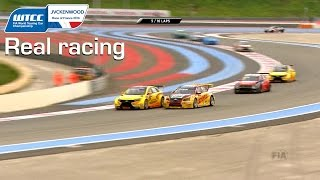 Real racing, WTCC France race 1, with epic battles for Tom Coronel 2016