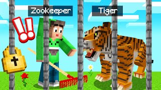 I Became A ZOO KEEPER In MINECRAFT! (Dangerous)