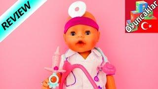 bebeğimiz doktor oluyor  hayallerini gerçekleştirdi  baby born doktor kıyafetleri seti