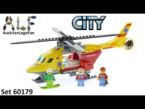 Vidéo LEGO City 60179 : L'hélicoptère-ambulance