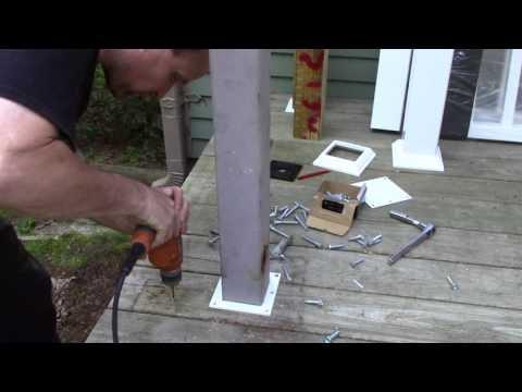 vinyl railing installation. Veranda brand.