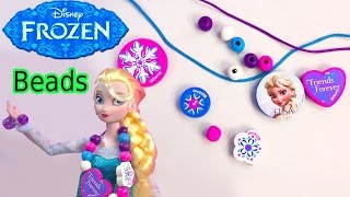 Queen ELSA Wooden Beads Disney Frozen Movie Wood Necklace Craft&Activity Book Playset Toy Unboxing
