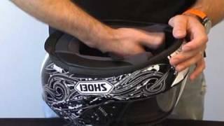 Shoei RF-1100 Helmet Review Part 2 from SportbikeTrackGear.com