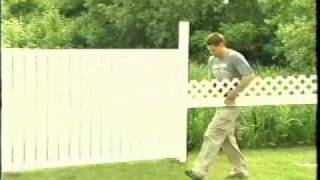 How to install a PVC/Vinyl Fence.  Plastival Fence products are among the best in the world