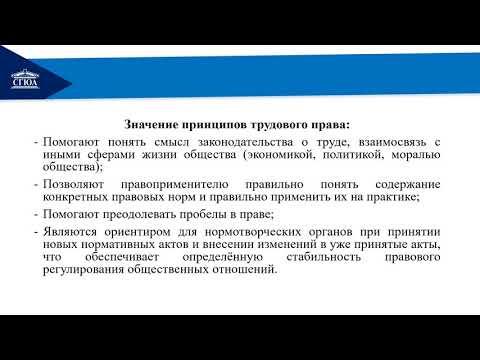 Тема 2  Принципы трудового права