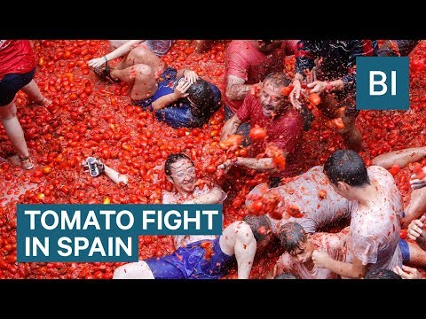Welcome to Tomatina, the Biggest Tomato Festival in the World!