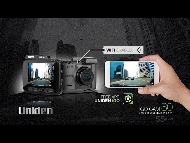 uniden igo cam 80 2160p 4k wifi 2 4 lcd gps dash camera. Black Bedroom Furniture Sets. Home Design Ideas