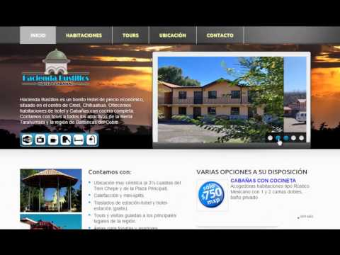 Sitio web para Hotel Hacienda Bustillos