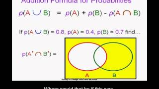 More on Probabilities, the addition principle, the Complement thereom