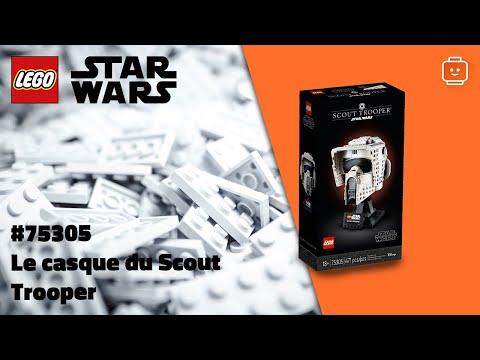 Vidéo LEGO Star Wars 75305 : Le casque du Scout Trooper