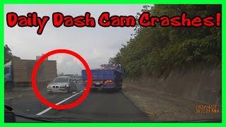 Смотреть онлайн Водитель БМВ резко затормозил прямо перед грузовиком
