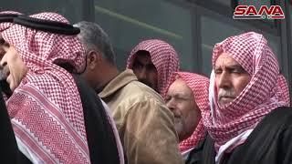 عودة عشرات المهجرين عبر ممر التايهة بمنطقة منبج إلى قراهم المحررة من الإرهاب-فيديو