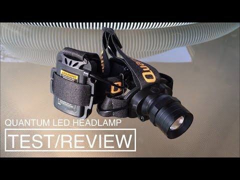 Harbor Freight Quantum LED Headlamp Review/Test Item: #63921