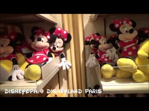 Disneyland Paris Minnie Mouse von klein bis riesig Merchandise Shop walkthrough 2017 DisneyOpa