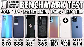 Moto Edge S vs X60 Pro+ vs ROG 3 vs Mi 10 Ultra vs Reno5 Pro vs Mate40 Pro vs iPhone 12 Pro Max Benchmark Test