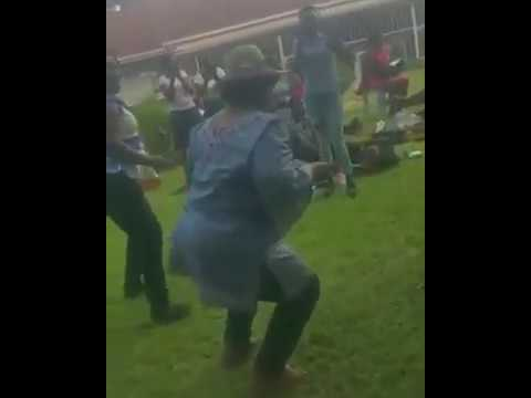Joice Mujuru gets down to some rhumba dance
