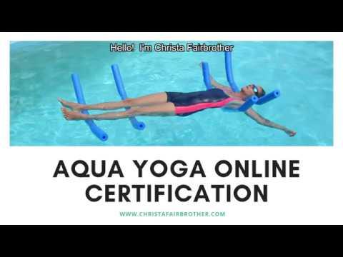 Aqua Yoga Online Certification - YouTube
