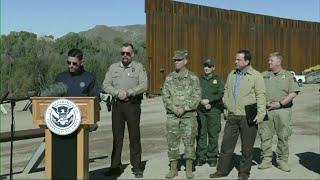 100 miles of border wall built, US officials say
