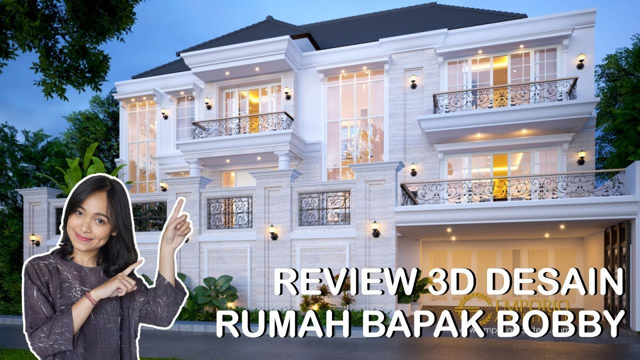Video 3D Mr. Bobby Classic House 2.5 Floors Design - Pontianak
