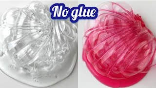 How To Make Clear Slime Without Contact Lens Solution Or Glue Free