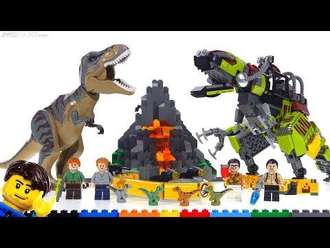 LEGO Jurassic World T. Rex vs. Dino Mech review! 75938