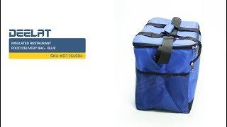 Insulated Restaurant Food Delivery Bag - Blue     SKU #D1164594