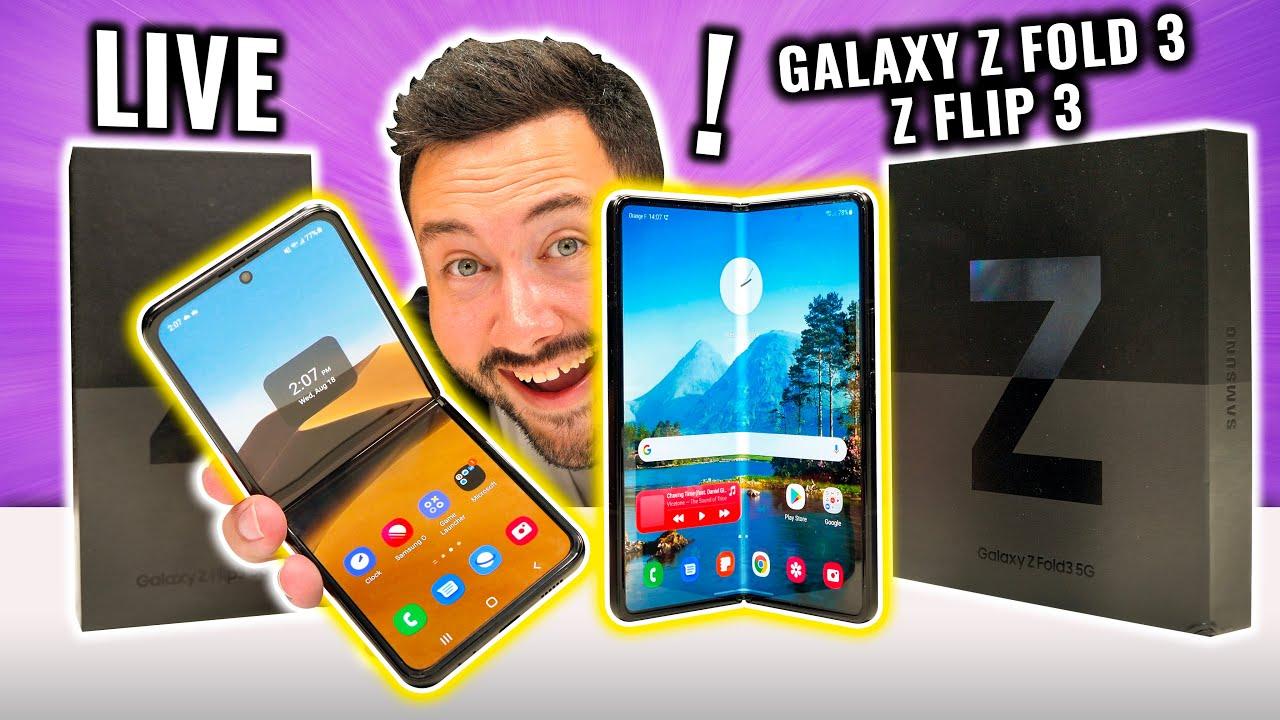 Live : Test Galaxy Z Fold 3 et Flip 3 ! ( + cadeaux)