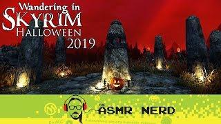 ASMR Whisper   Wandering in Skyrim   Halloween 2019 (relaxing ASMR sounds for sleep)