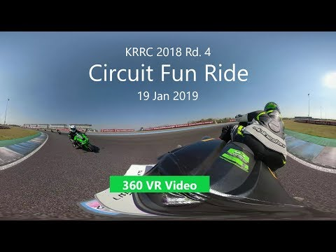 [360 VR] KRRC Circuit Fun Ride Rd.4 19 Jan 2019 @Chang International Circuit