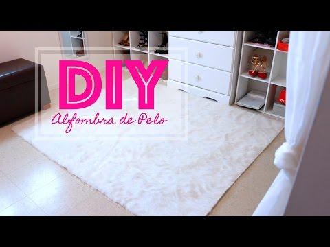 Como hacer una alfombra de pelo-DIY Alfombra de Pelo- Facil