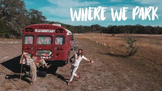 How we Find Parking for Our Off Grid Home // Bus Life