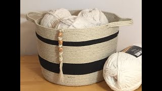 HOW TO - MAKE LARGE COTTON ROPE STORAGE BASKET