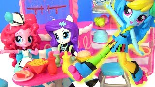 MLP Sweet Snacks Cafe Pinkie Май Литл Пони Мультик! КАФЕ ПИНКИ ПАЙ! Equestrian Girls Видео для Детей