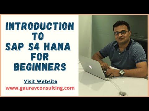 Introduction to SAP S4 HANA |  Overview of SAP S/4 HANA For Beginners | By Vikram Fotani Sir