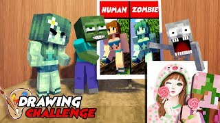 MONSTER SCHOOL : FUNNY DRAWING CHALLENGE - BEST MINECRAFT ANIMATION