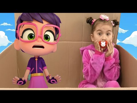 Abby Hatcher pretend play with a little baby in the box. Video For Kids. Episode 3